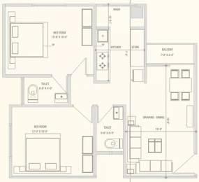 1071 sqft, 2 bhk Apartment in Swagat Blossom Sargaasan, Gandhinagar at Rs. 40.0000 Lacs