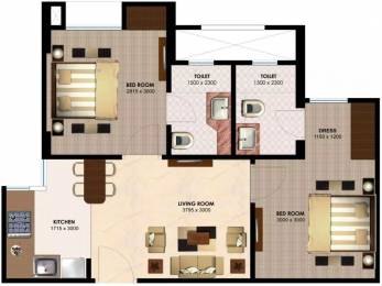 750 sqft, 2 bhk Apartment in Imperia H2O Knowledge Park V, Greater Noida at Rs. 36.0000 Lacs
