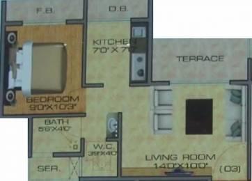 670 sqft, 1 bhk Apartment in Brij Heights Ulwe, Mumbai at Rs. 42.0000 Lacs