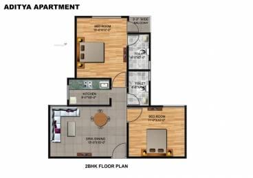 950 sqft, 2 bhk Apartment in Aasra Aditya Apartment Unione Residency Pratap Vihar, Ghaziabad at Rs. 28.0000 Lacs