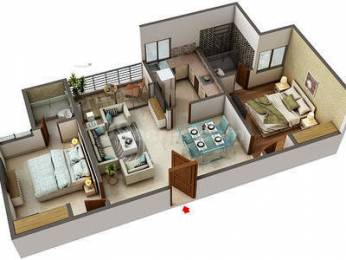 1051 sqft, 2 bhk Apartment in Builder Project Sanganer, Jaipur at Rs. 47.2800 Lacs