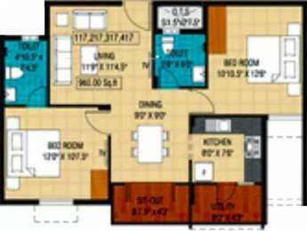 960 sqft, 2 bhk Apartment in Plaza Bounty Acres Madipakkam, Chennai at Rs. 50.8800 Lacs