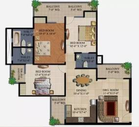 1595 sqft, 3 bhk Apartment in Supertech 34 Pavilion Sector 34, Noida at Rs. 1.3500 Cr
