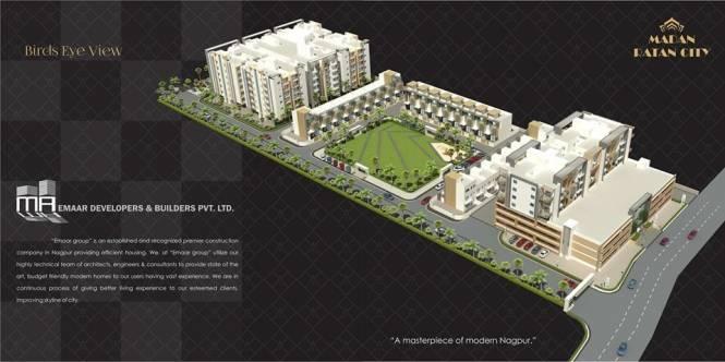 1170 sqft, 3 bhk Apartment in Builder madan ratan city Hudkeshwar Road, Nagpur at Rs. 37.4400 Lacs