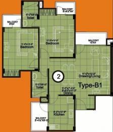 1240 sqft, 2 bhk Apartment in Unique Unique Towers Jagatpura, Jaipur at Rs. 34.9900 Lacs