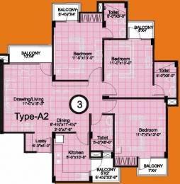 1546 sqft, 3 bhk Apartment in Unique Unique Towers Jagatpura, Jaipur at Rs. 48.0000 Lacs