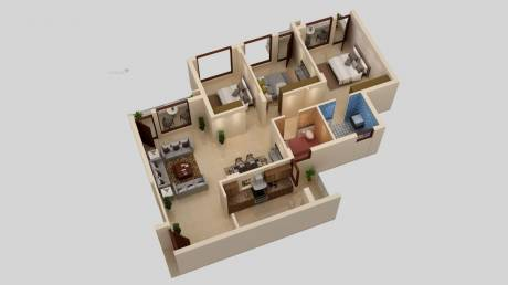1423 sqft, 3 bhk Apartment in JSJ Josan Heights Sector 127 Mohali, Mohali at Rs. 42.0000 Lacs
