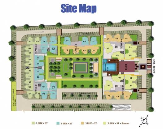 1155 sqft, 3 bhk Apartment in Sanskriti Garden Knowledge Park, Greater Noida at Rs. 33.4950 Lacs