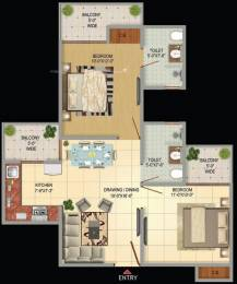 1050 sqft, 2 bhk Apartment in Victory Amara Sector 16 Noida Extension, Greater Noida at Rs. 34.0000 Lacs