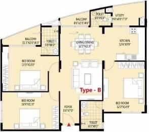 1691 sqft, 3 bhk Apartment in Klassik Landmark Junnasandra, Bangalore at Rs. 29500