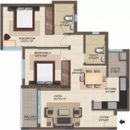1065 sqft, 2 bhk Apartment in Bren Woods Avalahalli Off Sarjapur Road, Bangalore at Rs. 43.5000 Lacs