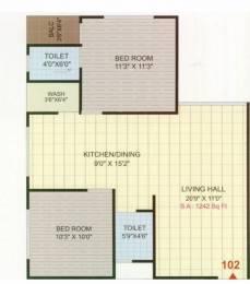 1242 sqft, 2 bhk Apartment in Narayan Coral Heights Palanpur, Surat at Rs. 34.0000 Lacs
