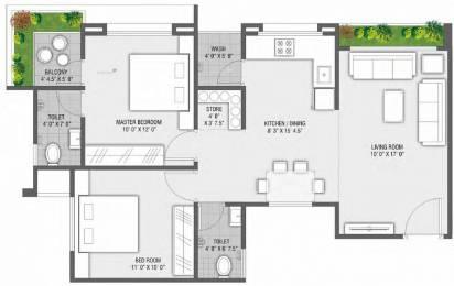 1275 sqft, 2 bhk Apartment in Rajhans Orange Palanpur, Surat at Rs. 38.2500 Lacs