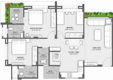 1600 sqft, 3 bhk Apartment in Rajhans Orange Palanpur, Surat at Rs. 44.8000 Lacs