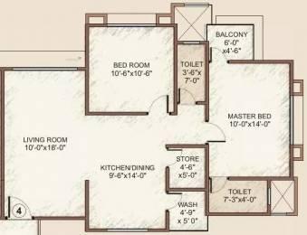 1246 sqft, 2 bhk Apartment in Happy Home Nakshatra Embassy Palanpur, Surat at Rs. 9000