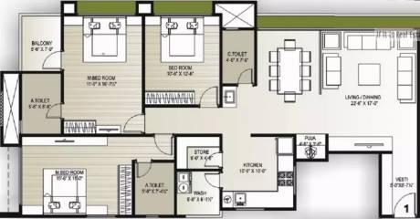2217 sqft, 3 bhk Apartment in Vaishnodevi Lifestyle Adajan, Surat at Rs. 1.3500 Cr