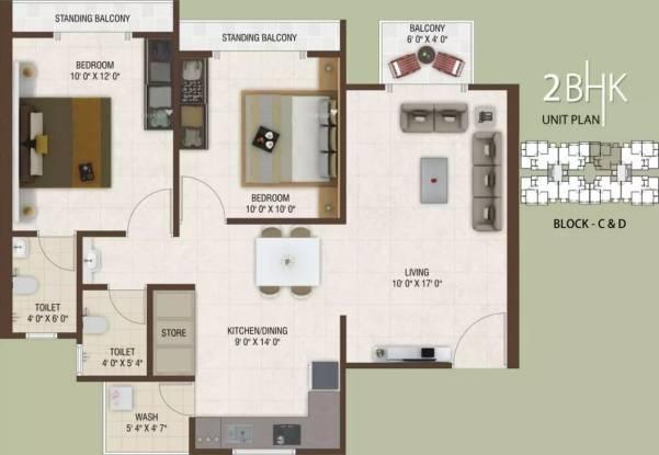 1170 sqft, 2 bhk Apartment in Rajhans Platinum Residency Palanpur, Surat at Rs. 32.0000 Lacs