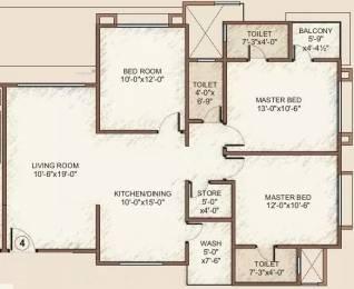 1630 sqft, 3 bhk Apartment in Happy Home Nakshatra Embassy Palanpur, Surat at Rs. 11000