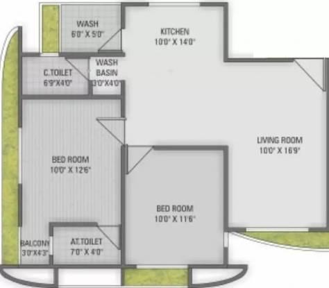 1191 sqft, 2 bhk Apartment in Raghuvir Saffron Althan, Surat at Rs. 37.0000 Lacs