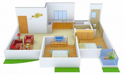 1191 sqft, 2 bhk Apartment in Raghuvir Saffron Althan, Surat at Rs. 16000