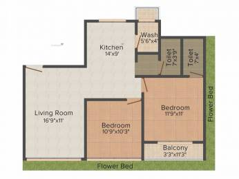1385 sqft, 2 bhk Apartment in Raghuvir Symphony Althan, Surat at Rs. 16000