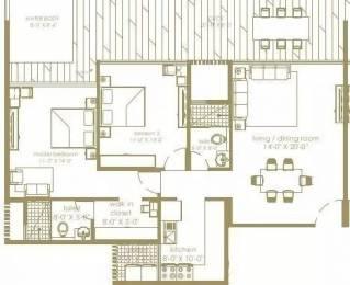 1402 sqft, 2 bhk Apartment in Unicca Emporis Varthur, Bangalore at Rs. 82.0000 Lacs