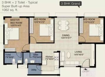 1062 sqft, 3 bhk Apartment in Provident Freedom Kelambakkam, Chennai at Rs. 10000