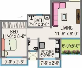 560 sqft, 1 bhk Apartment in JSB Nakshatra Greens Naigaon East, Mumbai at Rs. 6000