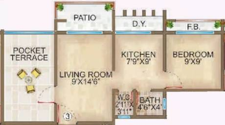 630 sqft, 1 bhk Apartment in Ornate Galaxy Naigaon East, Mumbai at Rs. 7500