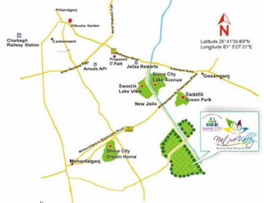 648 sqft, Plot in Shine Nature Valley Mohanlalganj, Lucknow at Rs. 1.5000 Lacs