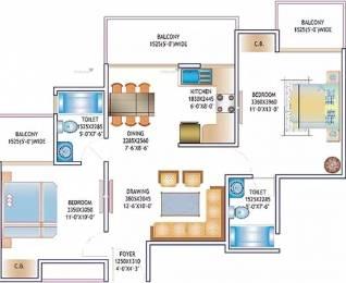 1015 sqft, 2 bhk Apartment in Skytech Matrott Sector 76, Noida at Rs. 15500
