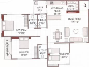 1631 sqft, 3 bhk Apartment in Shiv Samarpan Heights Vankal, Surat at Rs. 41.0000 Lacs