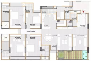 3382 sqft, 4 bhk Apartment in Shri Gautam Real Estate pvt ltd Apollo DB City Vijay Nagar, Indore at Rs. 1.2000 Cr