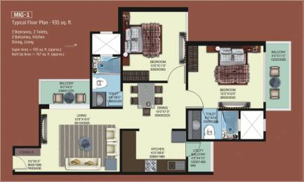 935 sqft, 2 bhk Apartment in Mahagun My Woods Sector 16C Noida Extension, Greater Noida at Rs. 32.5000 Lacs