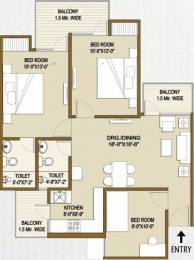 1197 sqft, 3 bhk Apartment in Panchsheel Hynish Sector 1 Noida Extension, Greater Noida at Rs. 40.6980 Lacs