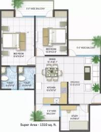 1310 sqft, 2 bhk Apartment in Panchsheel Pratishtha Sector 75, Noida at Rs. 64.8450 Lacs