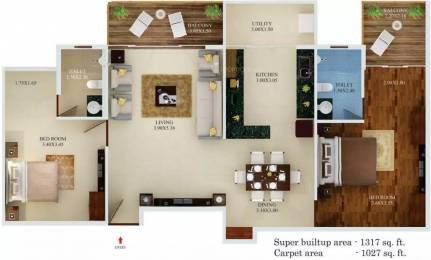 1317 sqft, 2 bhk Apartment in Aratt Premier ITPL, Bangalore at Rs. 79.0000 Lacs