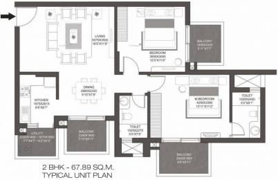1269 sqft, 2 bhk Apartment in Godrej Summit Sector 104, Gurgaon at Rs. 18000