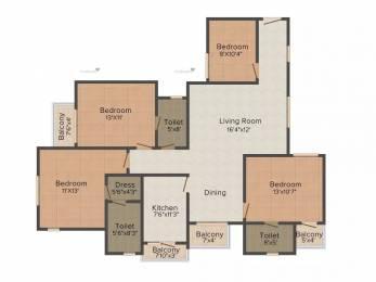 1779 sqft, 3 bhk Apartment in Sun South Court Jagatpura, Jaipur at Rs. 15000