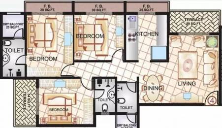 1489 sqft, 3 bhk Apartment in Sai Manomay Kharghar, Mumbai at Rs. 23000