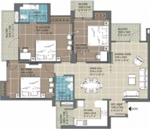 1503 sqft, 3 bhk Apartment in RG Residency Sector 120, Noida at Rs. 80.0000 Lacs