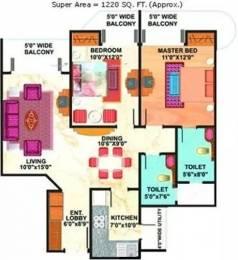 1220 sqft, 2 bhk Apartment in Mahagun Maestro Sector 50, Noida at Rs. 27000