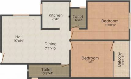 938 sqft, 2 bhk Apartment in Vastu Silicon City AB Bypass Road, Indore at Rs. 7000