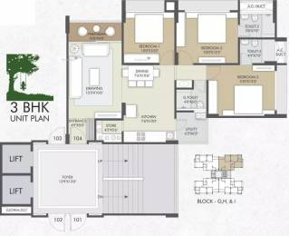 1710 sqft, 3 bhk Apartment in Shiv Serenity Space Gota, Ahmedabad at Rs. 60.0000 Lacs