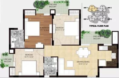 1275 sqft, 3 bhk Apartment in Sarvottam Golden I Techzone 4, Greater Noida at Rs. 38.0000 Lacs