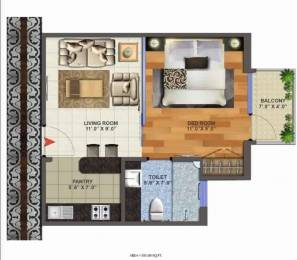 595 sqft, 1 bhk Apartment in Victory Habitat Centre Ahinsa Khand 1, Ghaziabad at Rs. 72.0000 Lacs