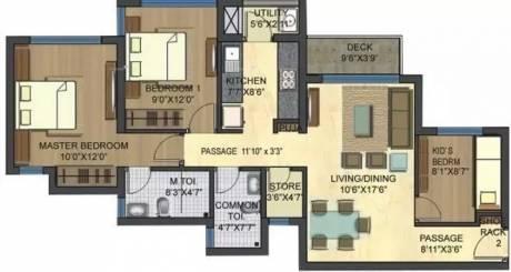 1098 sqft, 3 bhk Apartment in Lodha Casa Bella Gold Dombivali, Mumbai at Rs. 15000