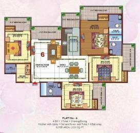 2150 sqft, 4 bhk Apartment in Skytech Merion Residency II Crossing Republik, Ghaziabad at Rs. 58.0000 Lacs