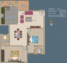 1128 sqft, 2 bhk Apartment in VSK Aayushman TVS Nagar, Coimbatore at Rs. 55.2344 Lacs