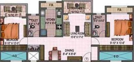 1200 sqft, 2 bhk Apartment in Monarch Orchid Kharghar, Mumbai at Rs. 20000
